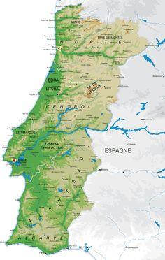 Carte du Portugal - Portugal Map