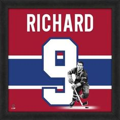 Maurice Richard Montreal Canadiens Players Uniframe *.*