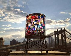 tom fruin: kolonihavehus...amazing.  I would sit here all day and watch the colors play with light.