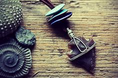 Flint Arrowhead Necklace Boho Gypsy Tribal by TheCreakingDoor