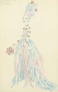 Ascot Races, the year 2000 signed and inscribed 'this drawing is the/property of Cecil Beaton/to whom this sheet/must be returned' (upper left) pencil and watercolour 18 x 11 1/4 in, drawn 1928 - sold by Christie's 2005