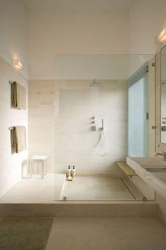 Fairfield House - modern - bathroom - austin - Webber + Studio, Architects client: nice shower/drying area, still prefer cureless Modern Bathroom Design, Modern House Design, Bathroom Interior, Bathroom Designs, Modern Bathrooms, Bath Design, Small Bathrooms, Tile Design, Bad Inspiration