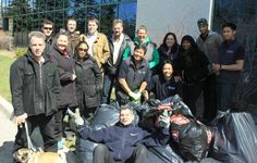 Freeman Audio Visual Toronto cleans community streets in celebration of Earth Day!  April 22, 2014. #FreemanAVCanada #FreemanCo #TrueBlue #EarthDay