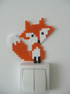 Hama Bead Fox Pattern but could be used for cross stitch