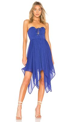 e4af999aea98 Shop for House of Harlow 1960 x REVOLVE Emmanuelle Dress in Cobalt at  REVOLVE. Free day shipping and returns