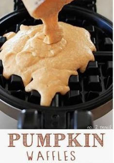 Looking For Pumpkin Recipes For Breakfast? These Pumpkin Waffles Are Perfect For Fall, And My Whole Family Went Crazy Over Them. They Are Crispy On The Outside, And Tender And Fluffy On The Inside. All the more Family Favorite Recipes On What's For Breakfast, Breakfast Items, Recipes For Breakfast, Breakfast Waffles, Mexican Breakfast, Breakfast Cookies, Pancakes, Pumpkin Recipes, Fall Recipes
