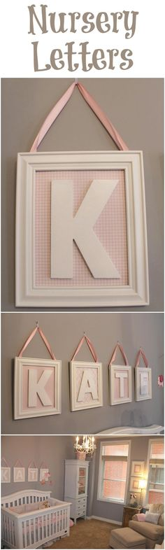 Make Your Own Nursery Letters - easy DIY project!