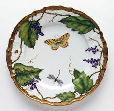 Wildberry Lavender dinner plate by Anna Weatherley.