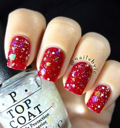 OPI 'In a Holidaze' and 'Snow Globetrotter'