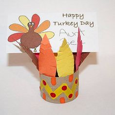 Craft Ideas with Toilet Rolls | Toilet Paper Roll Indian Hat - Free Thanksgiving Arts and Crafts for ...