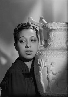 Josephine Baker in Paris, 1940. This picture was taken around the time she joined the French Counterespionage Services and became a counterespionage agent. She was awarded the Croix de Guerre and the Medal of Resistance with Rosette by the French government for her efforts during World War II. Photo: Studio Harcourt, Ministry of Culture (France).