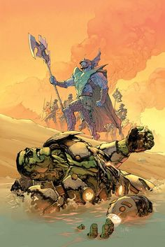 Attuma Vs Hulk by Leinil Francis Yu