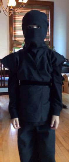 Easy DIY: Ninja Costume need to have a blue belt