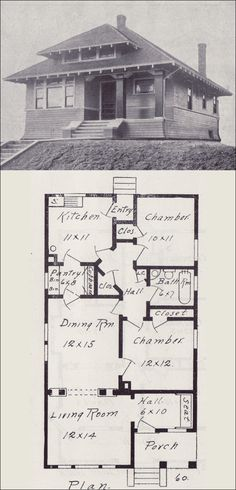 Old Vintage Bungalow House plan Early 1900′s | How to Build Plans. Description from pinterest.com. I searched for this on bing.com/images