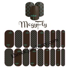 MogyFly - Inspired by my bestie! #nailart #dragonfly #brown #teal #turquoise #manicure #nas #kbrocknas #jamberry