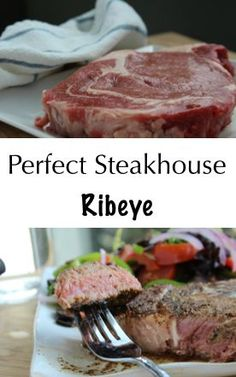 Craving that buttery, sizzling ribeye you get at a high end steakhouse? Make it yourself! This recipe is so easy and so delicious.  All you need is: Ribeye Steak Ghee Salt  Pepper Grass-fed butter #paleo #ribeye #butter #dinner shelovesbutter.com