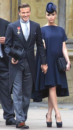 David and Victoria Beckham's best style moments: William and Kate's Royal Wedding