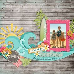 Love the waves for beach layouts... could use trees... flowers... mountains... #vacationscrapbook