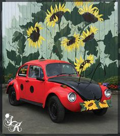 """An old barn becomes a fun painting canvas, & a VW Bug turns into a bug """"for real."""""""