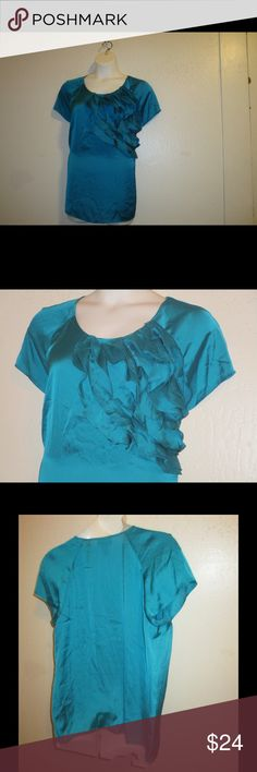 TURQUOISE DOLMAN TOP BY LANE BRYANT * 18/20 * BRAND NEW WITH ATTACHED TAGS; TURQUOISE DOLMAN SLEEVE RUFFLE TOP BY LANE BRYANT IN SIZE * 18/20.  THANKS FOR LOOKING! Lane Bryant Tops Blouses