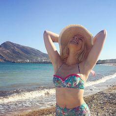 Beach! @mistylobycris I Custom made swimwear at www.surania.com #surania #bikini #swimwear #fashion