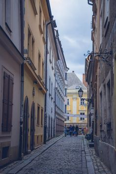 Narrow cobbled lanes in the Old Town of #Bratislava, Slovakia