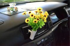 Pretty flowers for your car  http://www.ebay.co.uk/itm/Car-Van-Truck-Flower-Decor-Interior-Accessories-Decals-Novelty-Gift-Air-Con-Vent-/281061972826