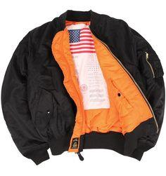 Alpha Industries Ma-1 Blood Chit (Alpha Industries MJM21300C1), Authentic Flight Jackets, Leather Bomber, MA-1 flight jacket, 45-P jacket, 45P coat, CWU 45-P, B-15 jacket, Nomex, A-2 pilot jacket, B-3 bomber coat ($100-200) - Svpply