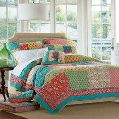 """What a fun way to do a large quilt top fast. I gather they are 12"""" squares."""