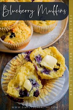 Make these quick and easy Low-Carb Blueberry Muffins for a sugar-free breakfast or afternoon snack! These freeze well, so you can keep them on hand. Make these quick and easy Low-Carb Blueberry Muffins for a sugar-free breakfast or afternoon snack! These freeze well, so you can keep them on hand. ❤😋 #lowcarb #keto #glutenfree #grainfree #Atkins #paleo #lowcarbmuffin #ketomuffin #blueberrymuffin #lowcarbdessert #ketodessert Low Carb Blueberry Muffin Recipe, Muffin Recipes, Keto Recipes, Sugar Free Breakfast, Afternoon Snacks, Low Carb Desserts, Blue Berry Muffins, Almond Flour, Grain Free