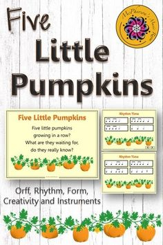 An October elementary music lesson that incorporates speaking, rhythm, instruments, creativity and form while addressing the Orff and Kodaly music curriculum. Excellent music education resource.