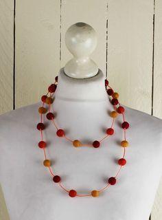 ganja-la Kette Filzkette Filz Schmuck Filzschmuck Filzkugeln Halskette necklace in Uhren & Schmuck, Modeschmuck, Halsketten & Anhänger | eBay 9,90