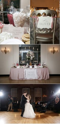 The Racquet Club of Chicago Wedding by StudioThisIs + Bliss Weddings and Events + Event Creative Dessert Bar Wedding, Candy Bar Wedding, Wedding Desserts, Cute Wedding Ideas, Wedding Styles, Romantic Weddings, Unique Weddings, Reception Decorations, Wedding Receptions