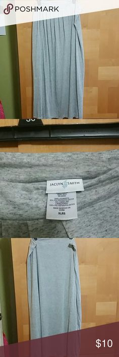 Gray maxi skirt Soft Gray lined to the knee maxi skirt . very cool and airy for summer. Jaclyn Smith Skirts Maxi