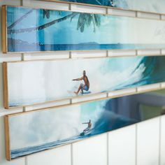 Kelly Slater Bamboo Panel Planked Art and Set | PBteen