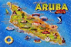WORLD, COME TO MY HOME!: 1152-1154, 1234-1235 NETHERLANDS (Aruba) - The map of Aruba