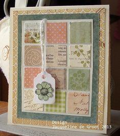 Mini card with mini squares