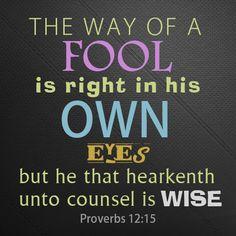 Proverbs 12:15 | JASONSTUFF