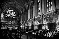 College Chapel Interior - Maynooth University, Ireland Print by Barry O Carroll