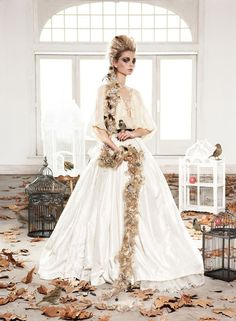 Rapunzel... I could get married in something like this. Something to think about.