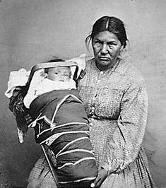 Iroquois Indians | Iroquois Tribe: Tuscarora Woman and Baby with Cradleboard