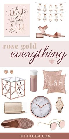 Are you rose gold aesthetic obsessed? From bedroom decor, string lights, and jewelry to sunglasses and shoes, all of these rose gold finds are about to make your heart SO happy! [affiliate link] bedroom rose gold Rose Gold Everything Rose Gold Room Decor, Rose Gold Rooms, Rose Gold Theme, Gold Bedroom Decor, Gold Home Decor, Apartment Bedroom Decor, Bedroom Decor For Women, Rose Gold Aesthetic, Tumblr Rooms