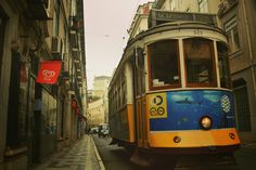 Famous tram line 28 Lisbon Portugal