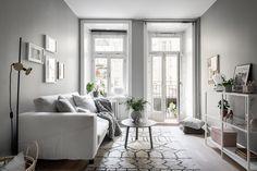 Gravity Home: Serene Grey & White Studio Apartment