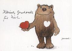 Janosch Postkarte Liebe: Kleines Geschenk für Dich