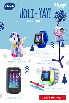 Have a Holi-Yay sing-along or dance-off with these top tech kids gifts from VTech. From kids karaoke machines to smartwatches weve got you covered. Tap the Pin to start shopping. Kids Karaoke Machine, Dance Shops, Christmas Diy, Christmas Decorations, Diaper Bag, Electronic Gifts, Top Toys, Personalized Books, Stocking Stuffers