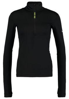 Nike Performance Bluzka z długim rękawem - black/volt za 249 zł (04.01.17) zamów bezpłatnie na Zalando.pl.