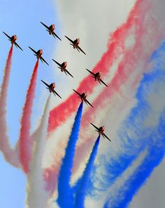 The Red Arrows. Every time I see them I get a lump in my throat.