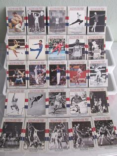 Vintage HALL OF FAME US Olympic 25 Trading Cards Lot Athletics, boxing,skating