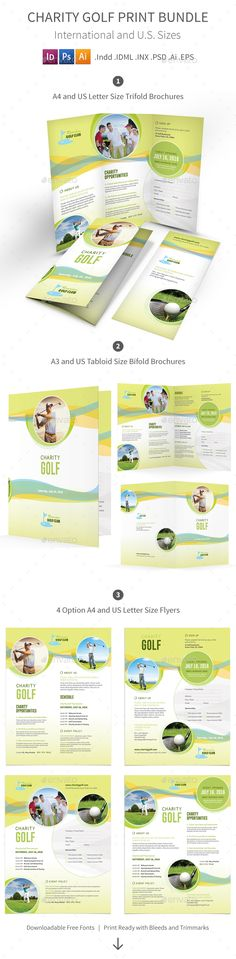 Charity Golf Print Bundle Templates PSD, Vector EPS, InDesign INDD, AI Illustrator. Download here: http://graphicriver.net/item/charity-golf-print-bundle/16768516?ref=ksioks